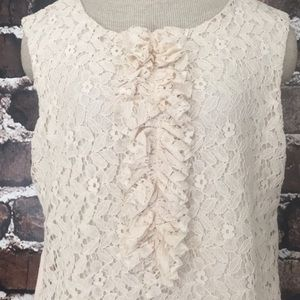 Buckle BKE Gimmicks lace top pink ruffles XL